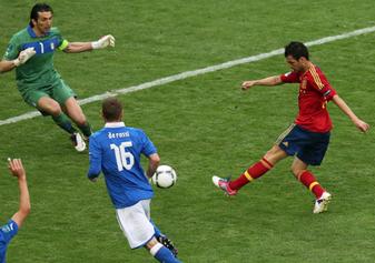 اسبانيا وايطاليا تنتهي بالتعادل فيديو